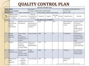 Quality Plan Template For Manufacturing by Quality Plan Template Wordscrawl