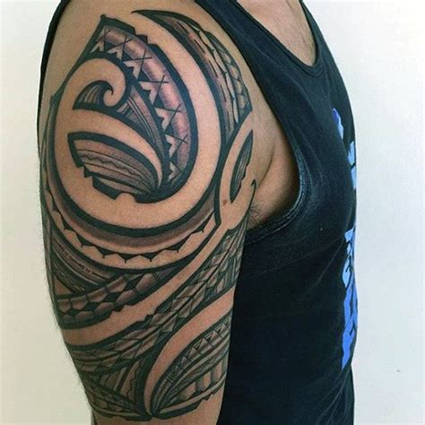 negative image tattoo designs 50 polynesian arm designs for manly tribal ideas