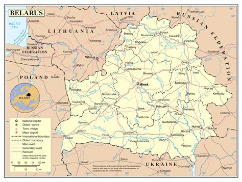 political map of belarus large detailed political and administrative map of belarus