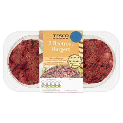 Oriental Decorations For Home tesco 2 beetroot burgers 245g my vegan supermarket