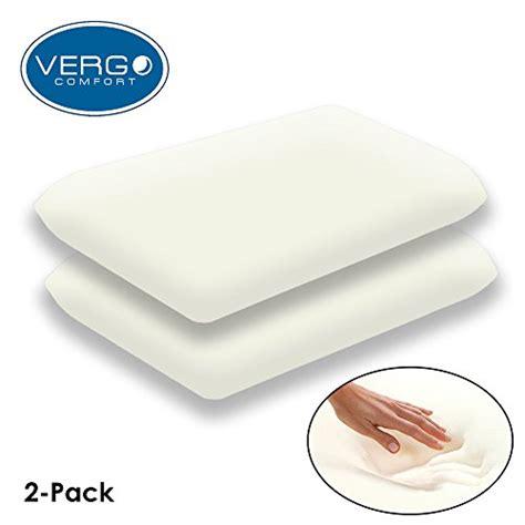 Memory Foam Pillow 2 Pack by Vergo Comfort Visco Elastic Premium Memory Foam Pillows