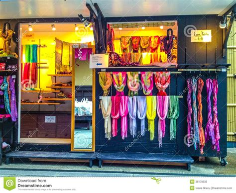 scarf shop in kyoto editorial stock photo image 38170533