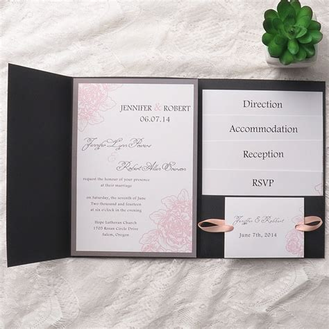 wedding invitation with pocket affordable pocket wedding invitations invites at
