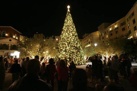 christmas tree lighting lake las vegas desert living