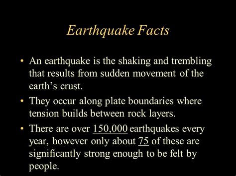 earthquake statistics earthquakes ppt download