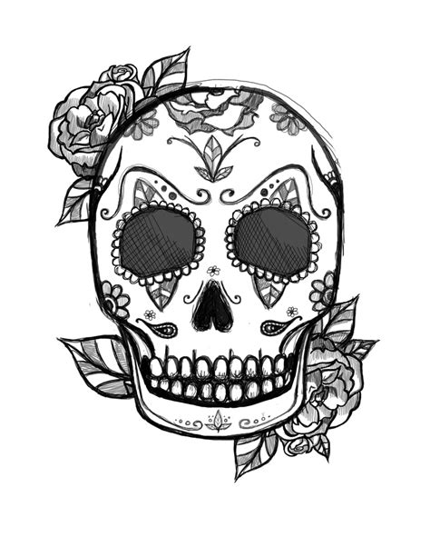 Mexican Skull Tattoo Design Tattoo Designs Pinterest Mexican Skull Coloring Pages