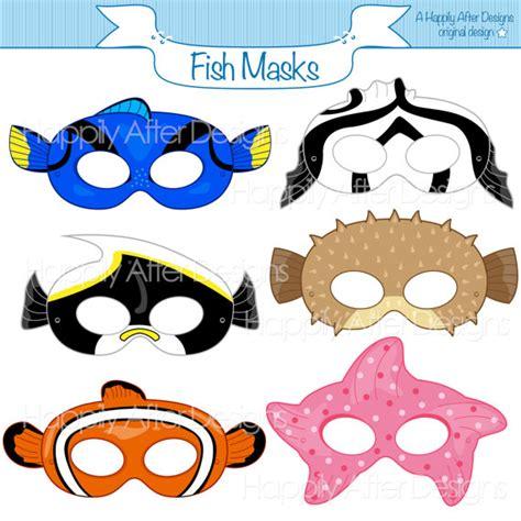 printable fish mask template fish printable masks moorish idol starfish mask clownfish
