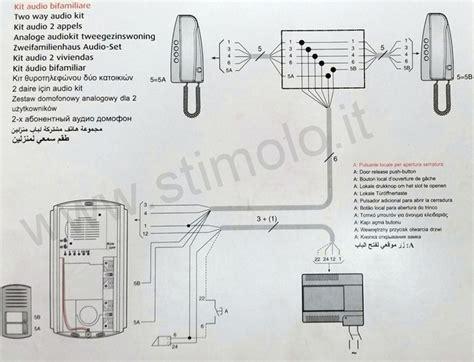 videocitofono bticino swing schema kit videocitofono bticino 2 fili