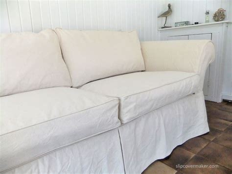 white duck sofa slipcover shabby chic style custom slipcover made with 12 cotton