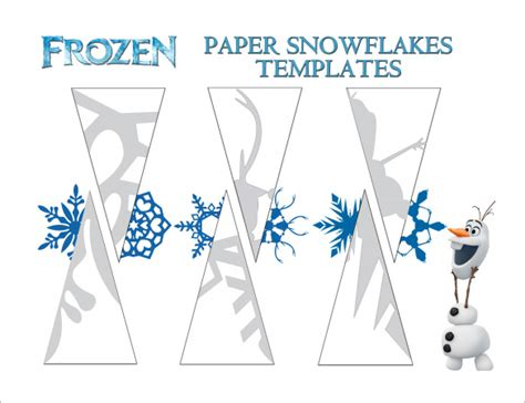how to make paper snowflakes from frozen wwwimgkidcom 6 frozen snowflake templates free printable word pdf