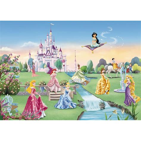 disney castle wall mural disney princess castle large photo wall mural room decor wallpaper ebay