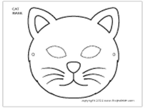 printable cat mask template image gallery mask coloring