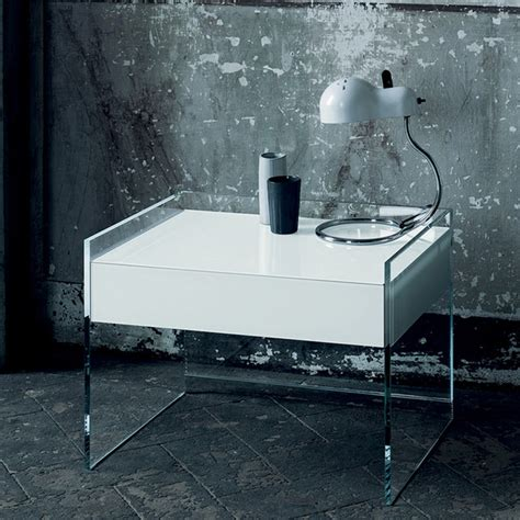 glass nightstands bedroom glas italia float glass night stand modern nightstands and bedside tables by