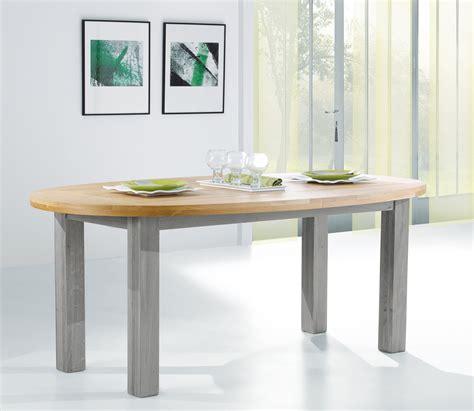 table ovale avec 1 ou 2 allonges 465dp