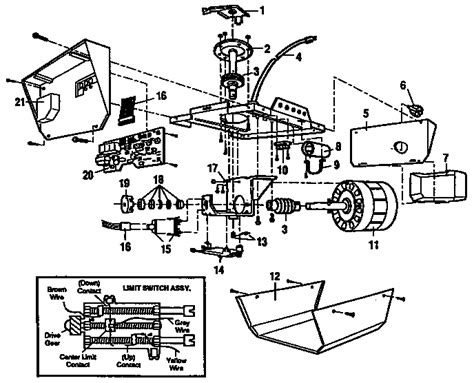 craftsman garage door opener diagram craftsman garage door opener parts model 13953413