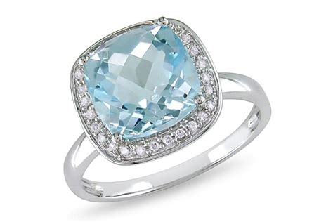 4 1 3 carat blue topaz 14k white gold ring