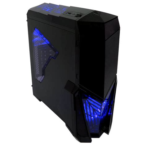 led pc case fans game max destroyer with 3 x 12cm 15 blue led fans 1 x