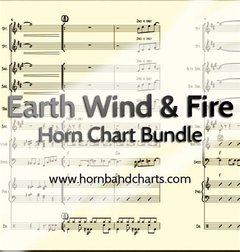 earth wind and fire horn section earth wind and fire horn chart pdf horn band charts
