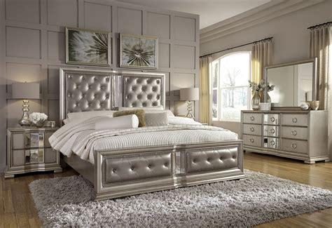 couture silver panel bedroom set  pulaski coleman furniture