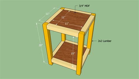 how to build an end table howtospecialist how to build