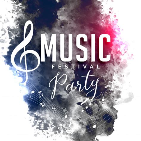 party music grunge style music party festival flyer poster design