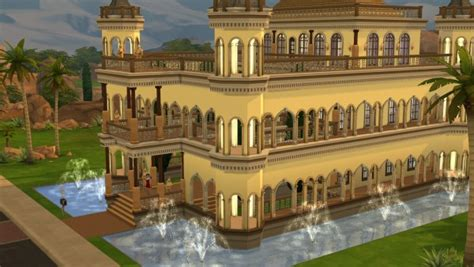 Mod The Sims: Sandy Castle built on a 40 x 30 lot 4 bed. 4 Bathrooms by tarticus ? Sims 4 Downloads