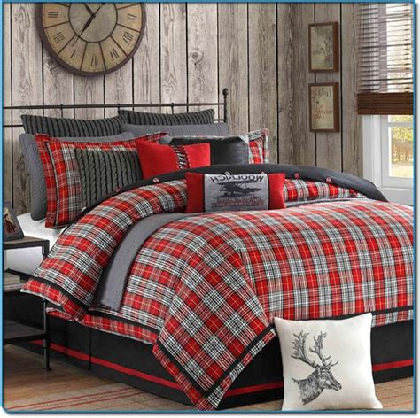 Boys Plaid Comforter Set by Plaid Bedding For Boys Williamsport Plaid Comforter Sets Lodge Bedding Collections