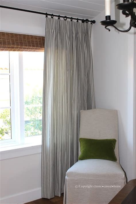 casual home curtains 25 best ideas about ticking stripe on pinterest striped