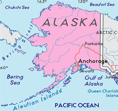 map usa with alaska capital alaska map