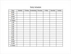 Time Schedule Template by Timetable Template 9 Free Word Pdf Documents