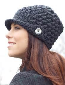 Women s peaked cap patterns yarnspirations