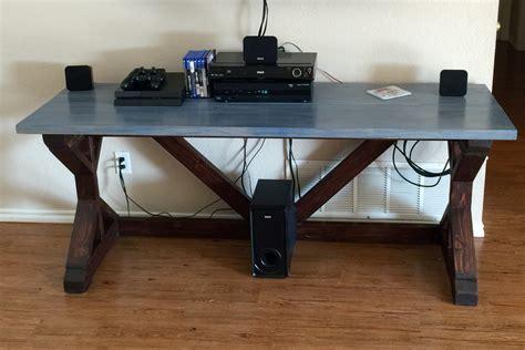 diy rustic desk white rustic x desk diy projects
