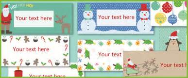editable christmas labels free early years amp primary