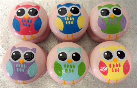 Animal Door Knobs by Painted Childrens Owl Animal Door Drawer Knobs