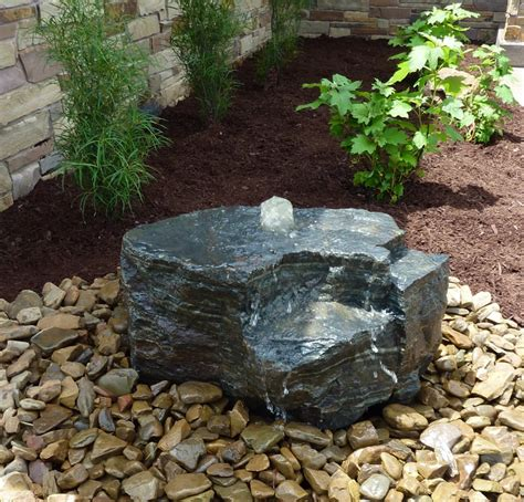 Rock Garden Features Boulder Bubbler By Land Escapes Inc Water Features Pinterest More Rock Water