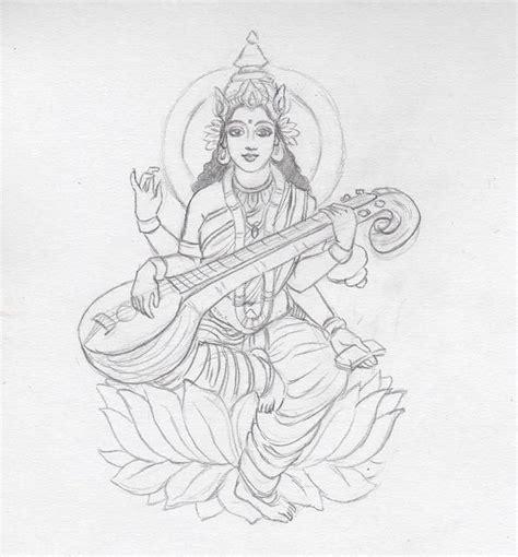 saraswati tattoo designs saraswati sketch by coconutpocky ink