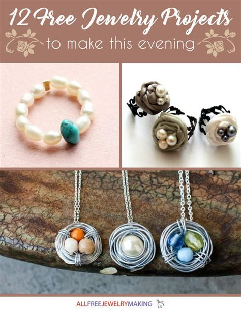 free jewelry projects quot 12 free jewelry projects to make this evening quot ebook