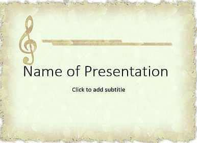template ppt music free beige templates for powerpoint