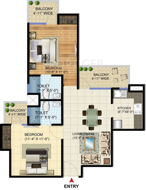 975 Sq Ft 2 Bhk 2t Apartment For Sale In Amrapali Group 975 Sq Ft 2 Bhk 2t Apartment For Sale In Charms India
