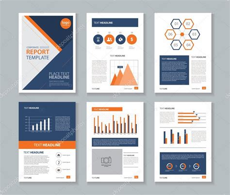 company profile annual report brochure flyer page