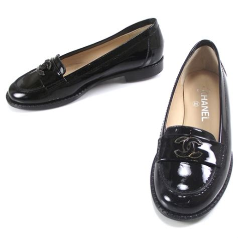 chanel black loafers chanel patent leather loafers black 12704