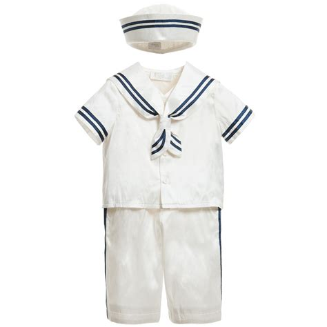 Pinata Sailor Boy L Size darlings occasion baby boys ivory silk sailor