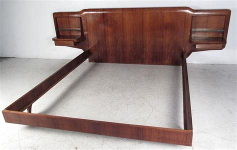 mid century bed frame mid century italian bed frame with end tables at 1stdibs