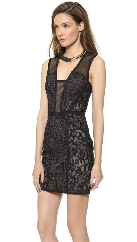 Dress Lyla bcbgmaxazria lyla open back dress black combo in black lyst