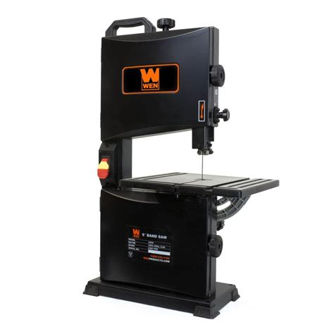 wen 9 in 2 8 benchtop band saw 3960 the home depot