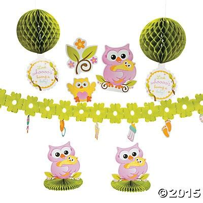 Owl Baby Shower Decorations Canada by Owl Baby Shower Room Decorating Kit Supplies Canada