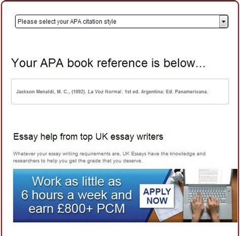 book reference generator vancouver generador de referencias bibliogr 225 ficas en estilo apa y
