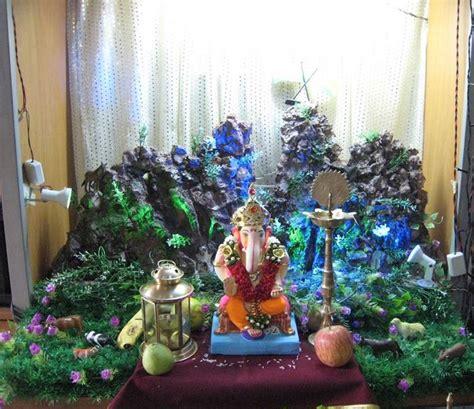 ganpati decoration at home ganesh chaturthi decoration ideas ganesh pooja decor