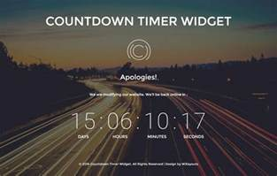 Countdown Html Template by Countdown Timer Widget A Flat Responsive Widget Template