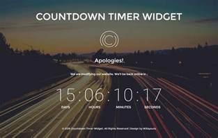 countdown timer template countdown timer widget a flat responsive widget template